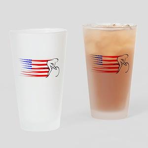 Track Cycling - USA Drinking Glass