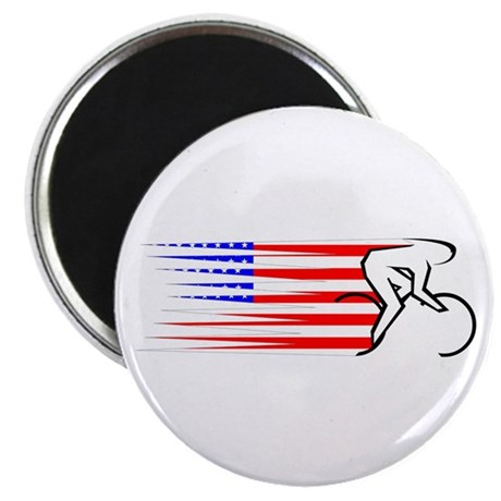 """Track Cycling - USA 2.25"""" Magnet (10 pack)"""