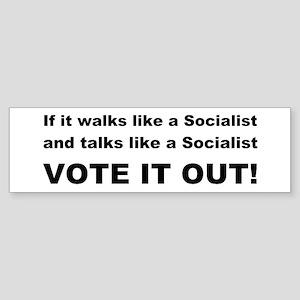 Socailist Vote It Out Sticker (Bumper)