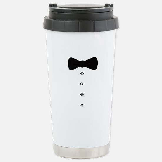 'Bow Tie Tux' Stainless Steel Travel Mug
