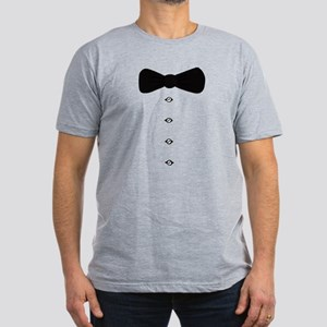 'Bow Tie Tux' Men's Fitted T-Shirt (dark)