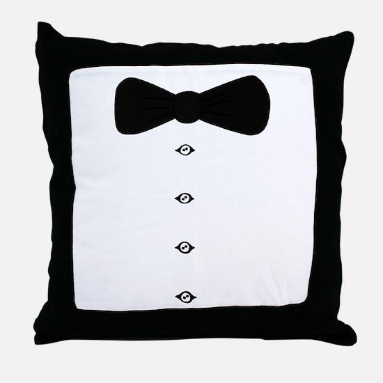 'Bow Tie Tux' Throw Pillow
