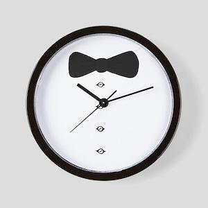 'Bow Tie Tux' Wall Clock