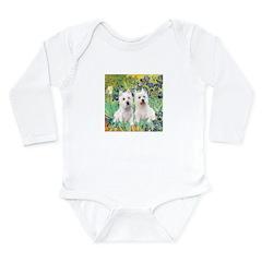 CUSTOM-Irises - 2 Westies Long Sleeve Infant Bodys