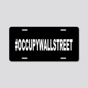 #OccupyWallStreet: Aluminum License Plate
