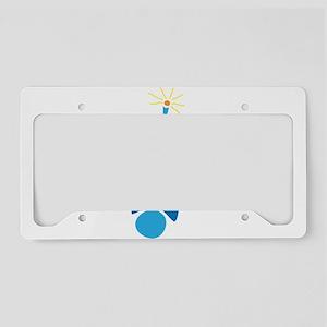 Blue Robot License Plate Holder
