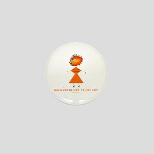 Hanuukah Hot Mini Button