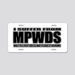 Portugese Water Dog Aluminum License Plate