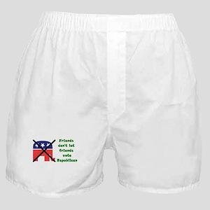 Friends don't let friends vote GOP Boxer Shorts