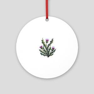 scottish thistle Ornament (Round)