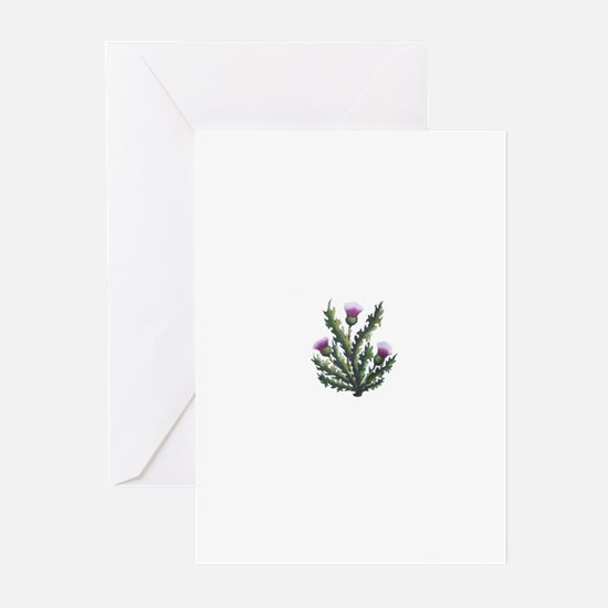 scottish thistle Greeting Cards (Pk of 10)