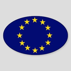 EU Oval Sticker