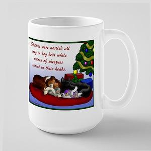 Sheltie Christmas Large Mug