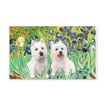 Irises-Westies 3and11 20x12 Wall Decal