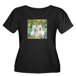 Irises-Westies 3and11 Women's Plus Size Scoop Neck