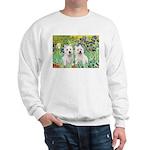 Irises-Westies 3and11 Sweatshirt