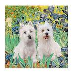 Irises-Westies 3and11 Tile Coaster