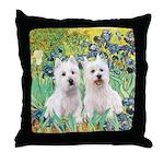 Irises-Westies 3and11 Throw Pillow
