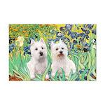 Irises-Westies 3and11 Mini Poster Print