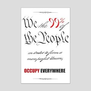 We the 99% Mini Poster Print