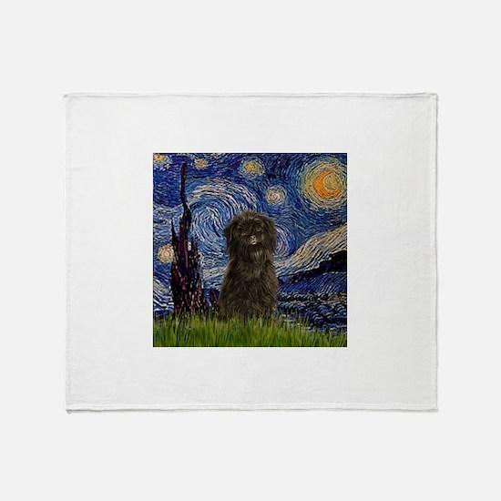 Cute Affenpinschers Throw Blanket