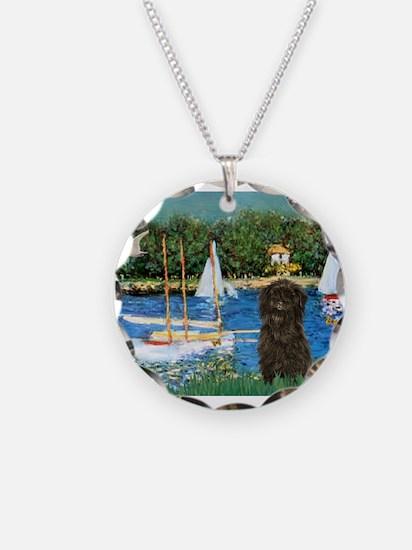 Sailboats & Affenpinscher Necklace