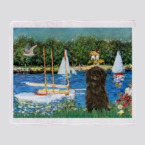 Sailboats & Affenpinscher Throw Blanket