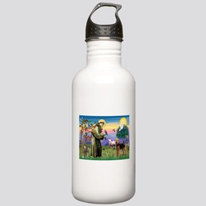 Saint Francis & Airedale Stainless Water Bottle 1.