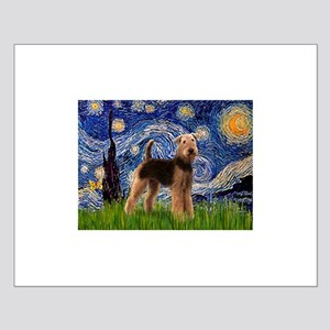 Starry Night Airedale (1) Small Poster