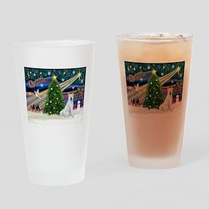 Xmas Magic & Akita Drinking Glass