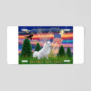 Blessed / Eskimo Spitz Aluminum License Plate