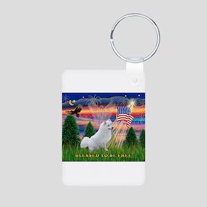 Blessed / Eskimo Spitz Aluminum Photo Keychain