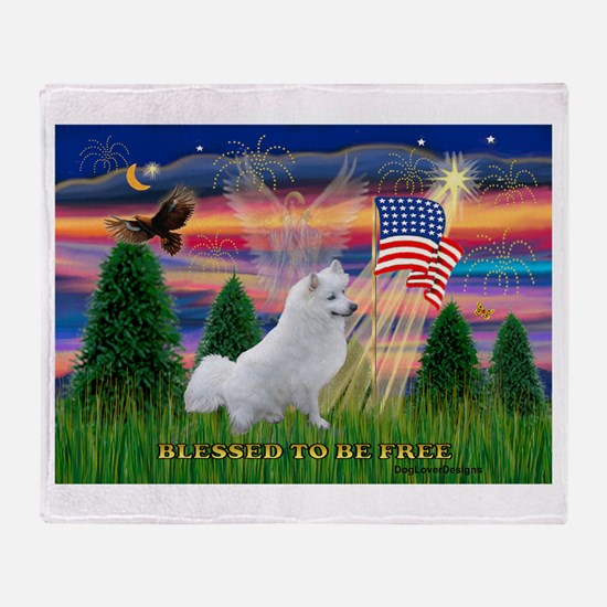 Blessed / Eskimo Spitz Throw Blanket