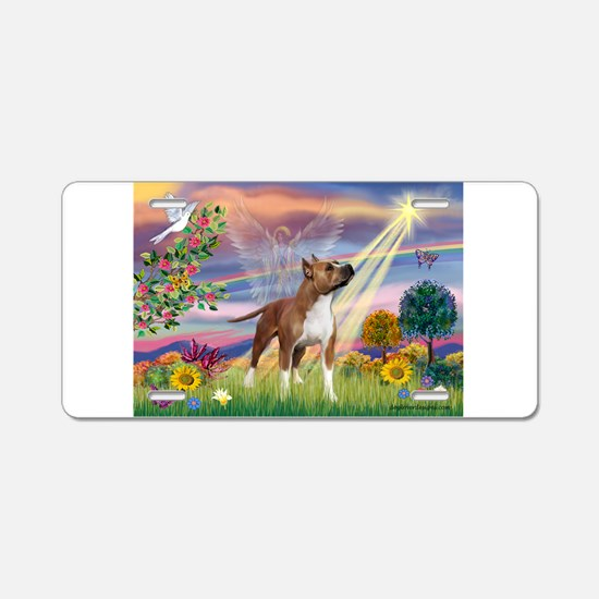 Cloud Angel & Amstaff Aluminum License Plate