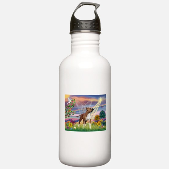 Cloud Angel & Amstaff Water Bottle