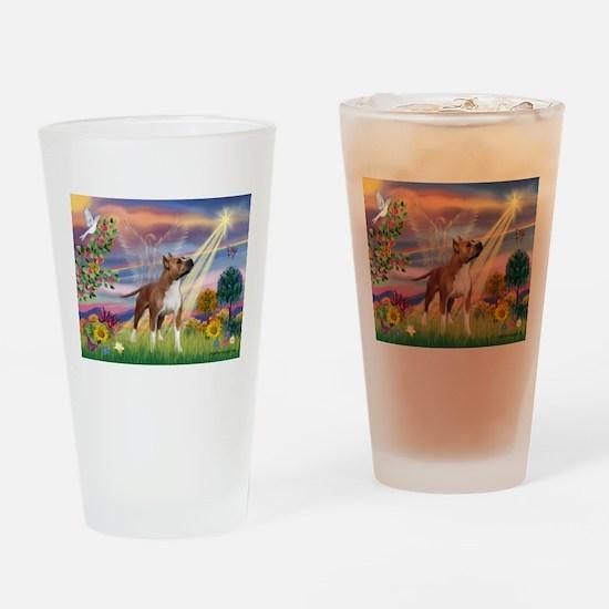 Cloud Angel & Amstaff Drinking Glass