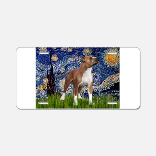 Starry & Amer Staff Aluminum License Plate