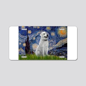 Starry Night & Anatolian Aluminum License Plate