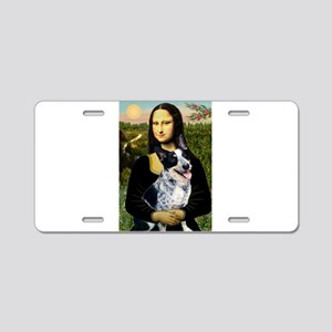 Mona Lisa/Cattle Dog Aluminum License Plate