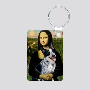 Mona Lisa/Cattle Dog Aluminum Photo Keychain