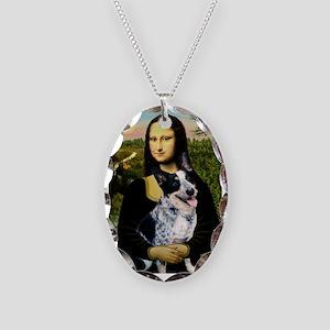 Mona Lisa/Cattle Dog Necklace Oval Charm