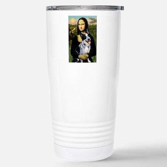 Mona Lisa/Cattle Dog Stainless Steel Travel Mug