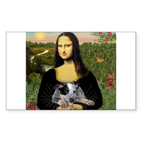 Mona's Aussie Cattle Pup Sticker (Rectangle)