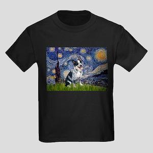 Starry Night/ Australian Catt Kids Dark T-Shirt