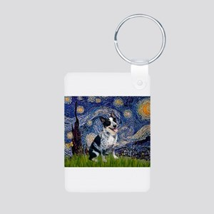 Starry Night/ Australian Catt Aluminum Photo Keych