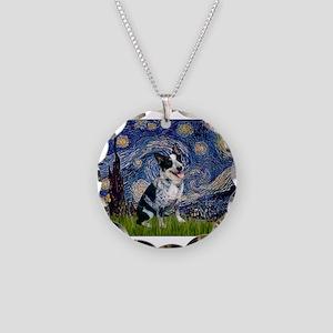 Starry Night/ Australian Catt Necklace Circle Char