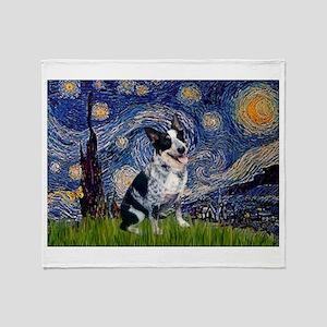 Starry Night/ Australian Catt Throw Blanket