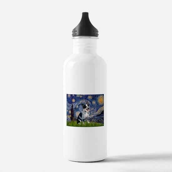 Starry Night/ Australian Catt Water Bottle