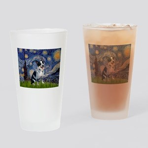 Starry Night/ Australian Catt Drinking Glass