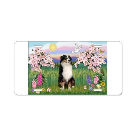 Blossoms & Aussie (#2) Aluminum License Plate